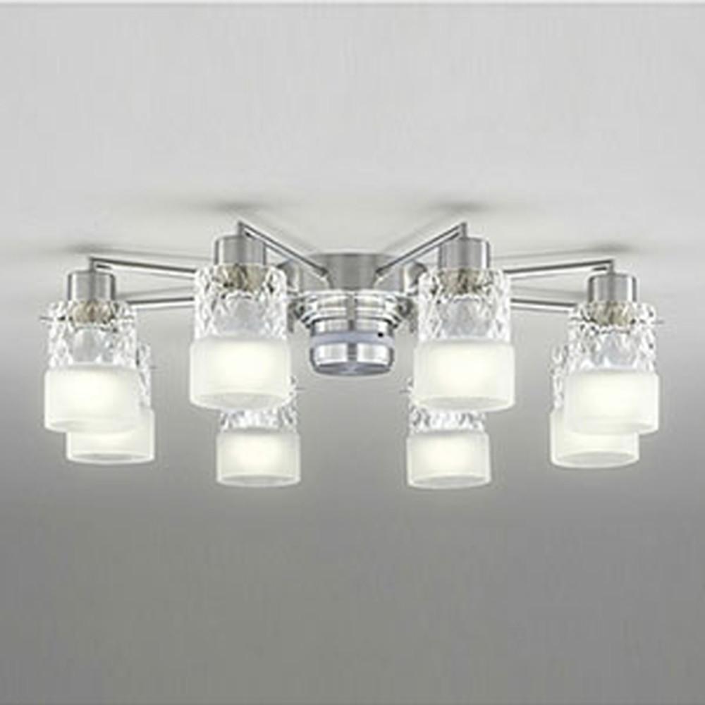 オーデリック LEDシャンデリア ~14畳用 8.6W×8灯タイプ 電球色⇔昼白色 光色切替調光タイプ リモコン付 OC257008PC