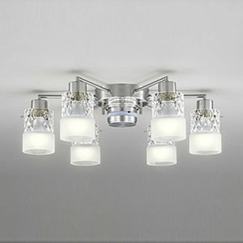 オーデリック LEDシャンデリア ~10畳用 8.6W×6灯タイプ 電球色⇔昼白色 光色切替調光タイプ リモコン付 OC257010PC