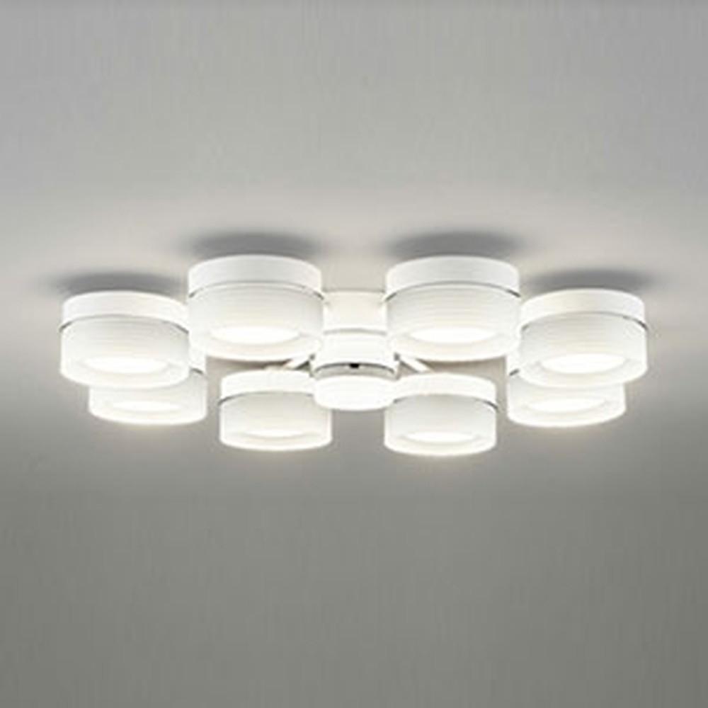 オーデリック LEDシャンデリア ~10畳用 6.8W×8灯タイプ 電球色 調光タイプ リモコン付 OC257013LC