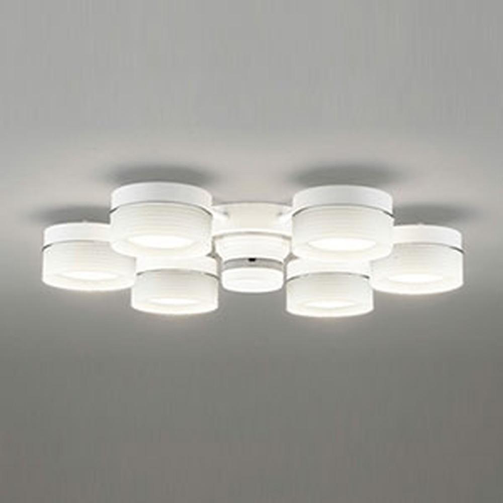 オーデリック LEDシャンデリア ~8畳用 6.8W×6灯タイプ 電球色 調光タイプ リモコン付 OC257015LC