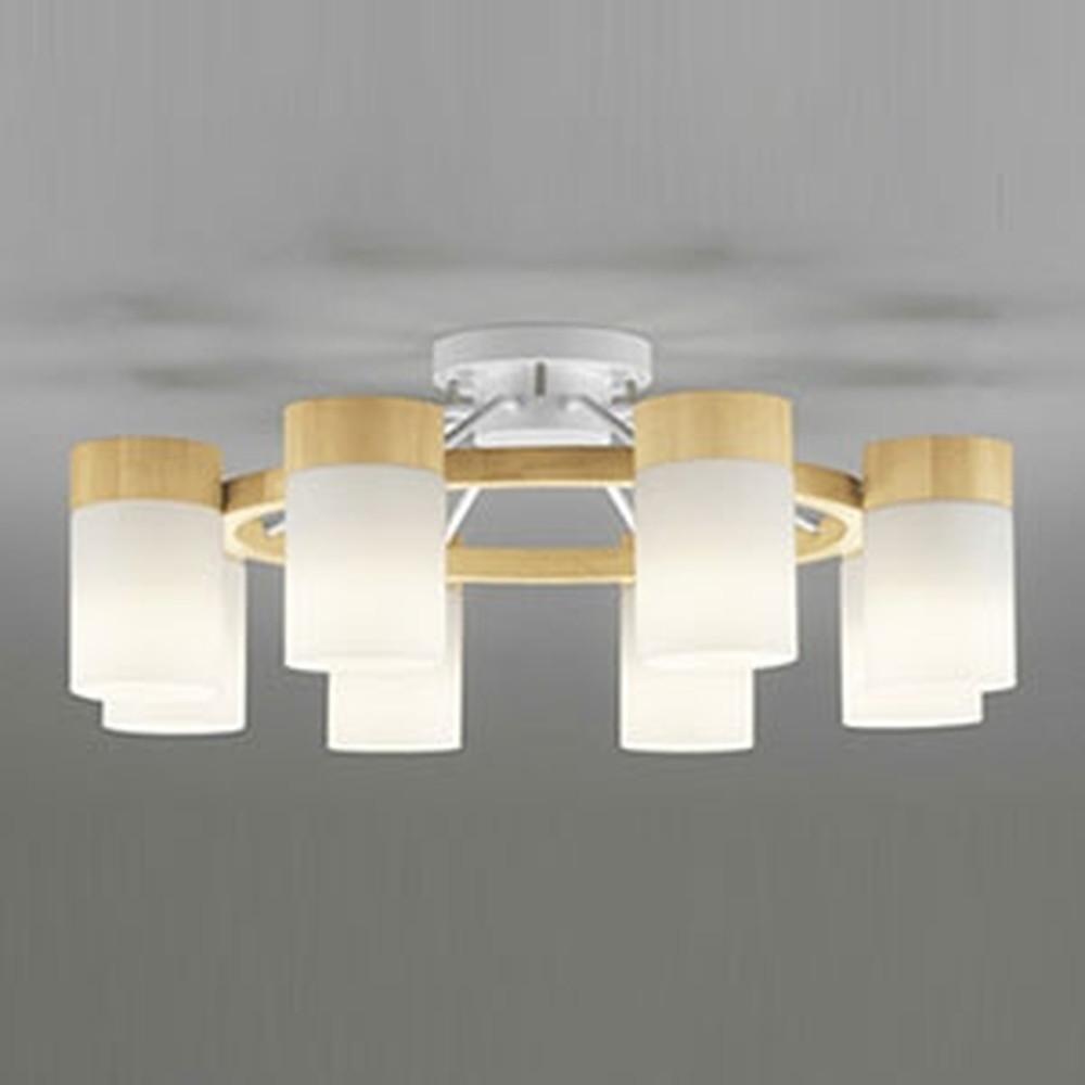 オーデリック LEDシャンデリア ~12畳用 9W×8灯タイプ 電球色~昼光色 調光・調色タイプ Bluetooth®対応 ナチュラル OC257062BC