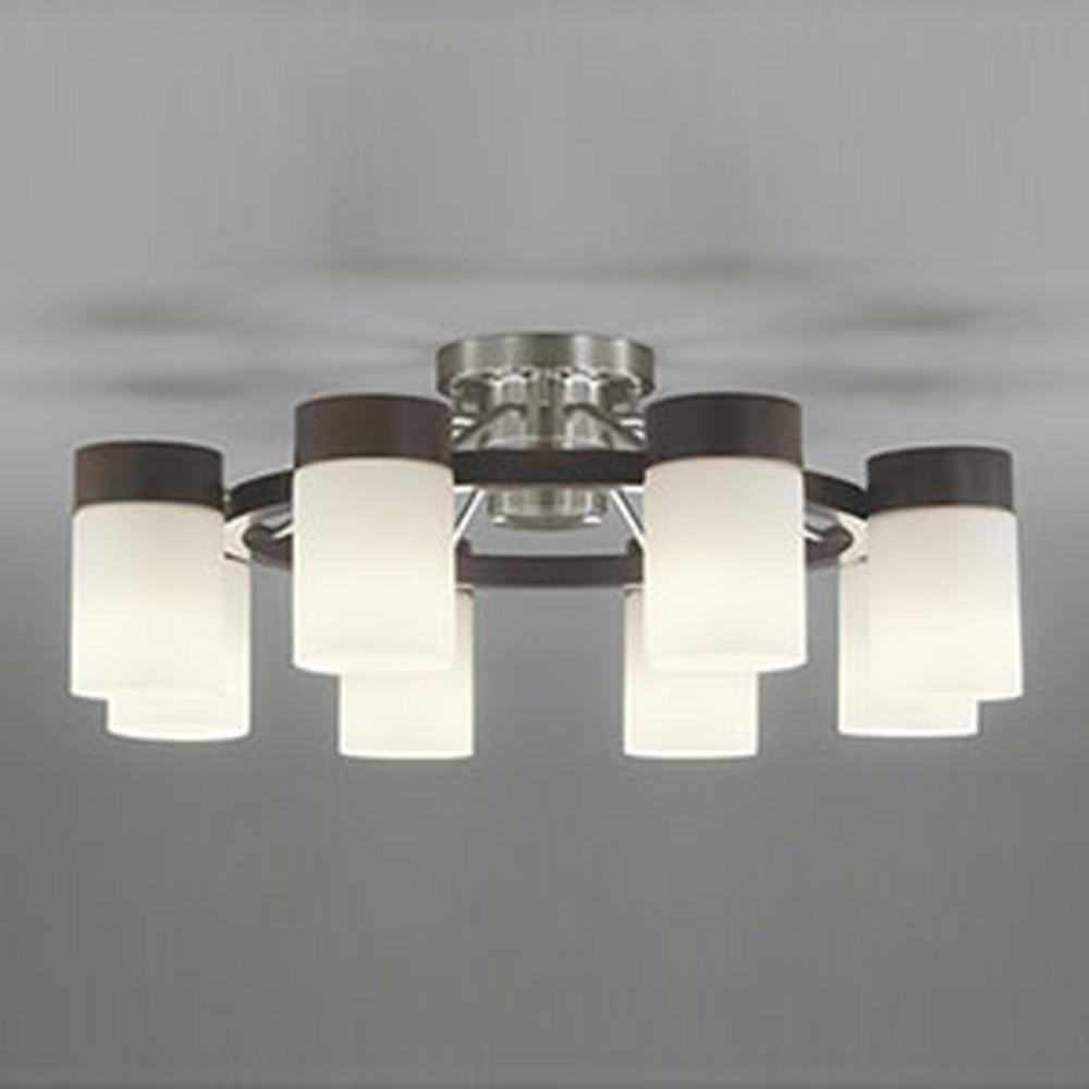 オーデリック LEDシャンデリア ~12畳用 9.8W×8灯タイプ 電球色 調光タイプ リモコン付 エボニーブラウン OC257067LC