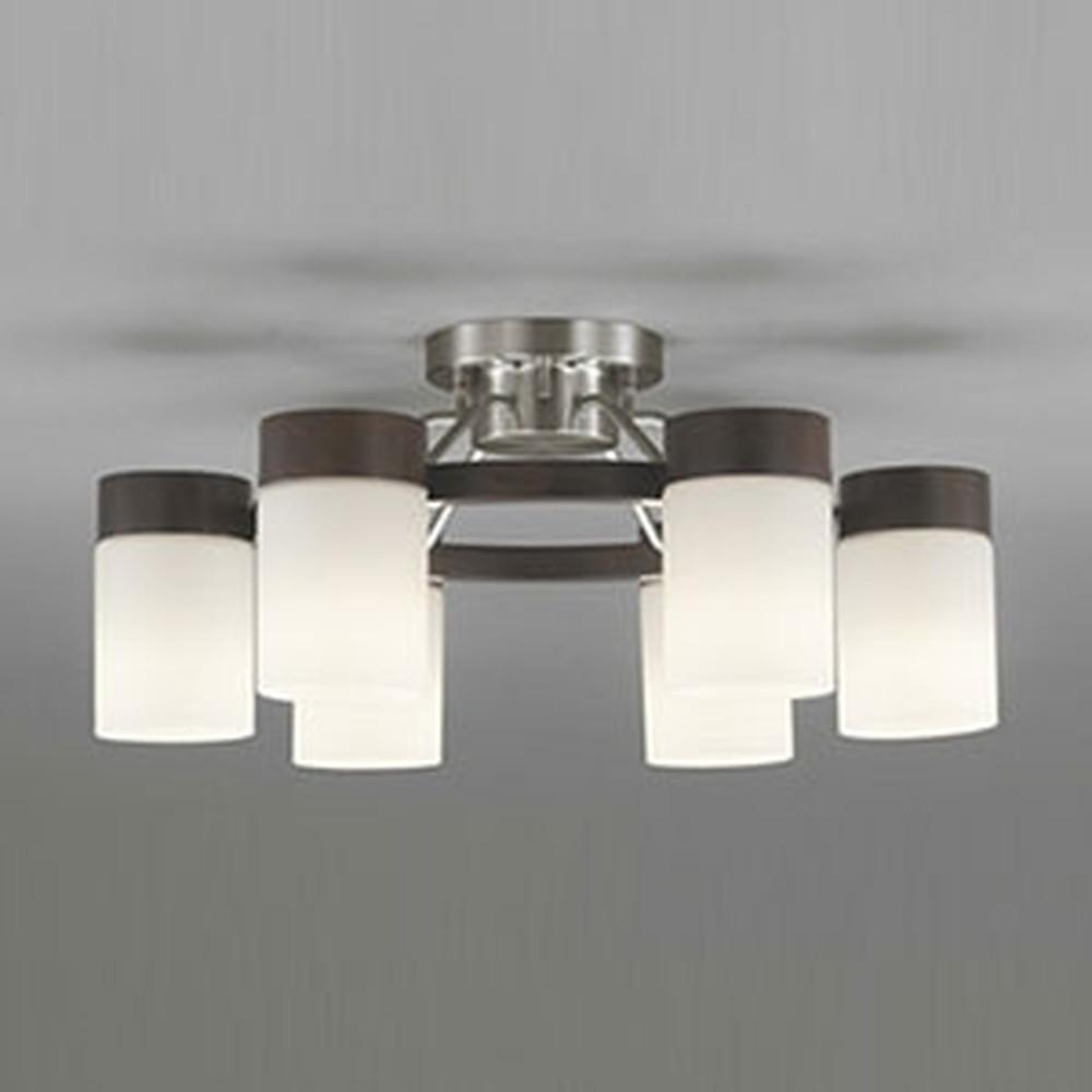 オーデリック LEDシャンデリア ~10畳用 8.6W×6灯タイプ 電球色⇔昼白色 光色切替調光タイプ エボニーブラウン OC257070PC