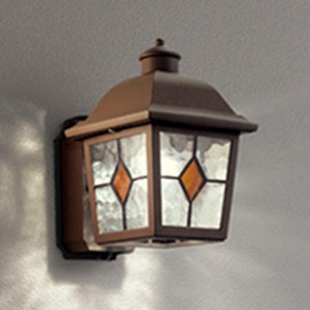 オーデリック LEDポーチライト 防雨型 白熱灯40W相当 電球色 人感センサー付 鉄錆 OG254407LC