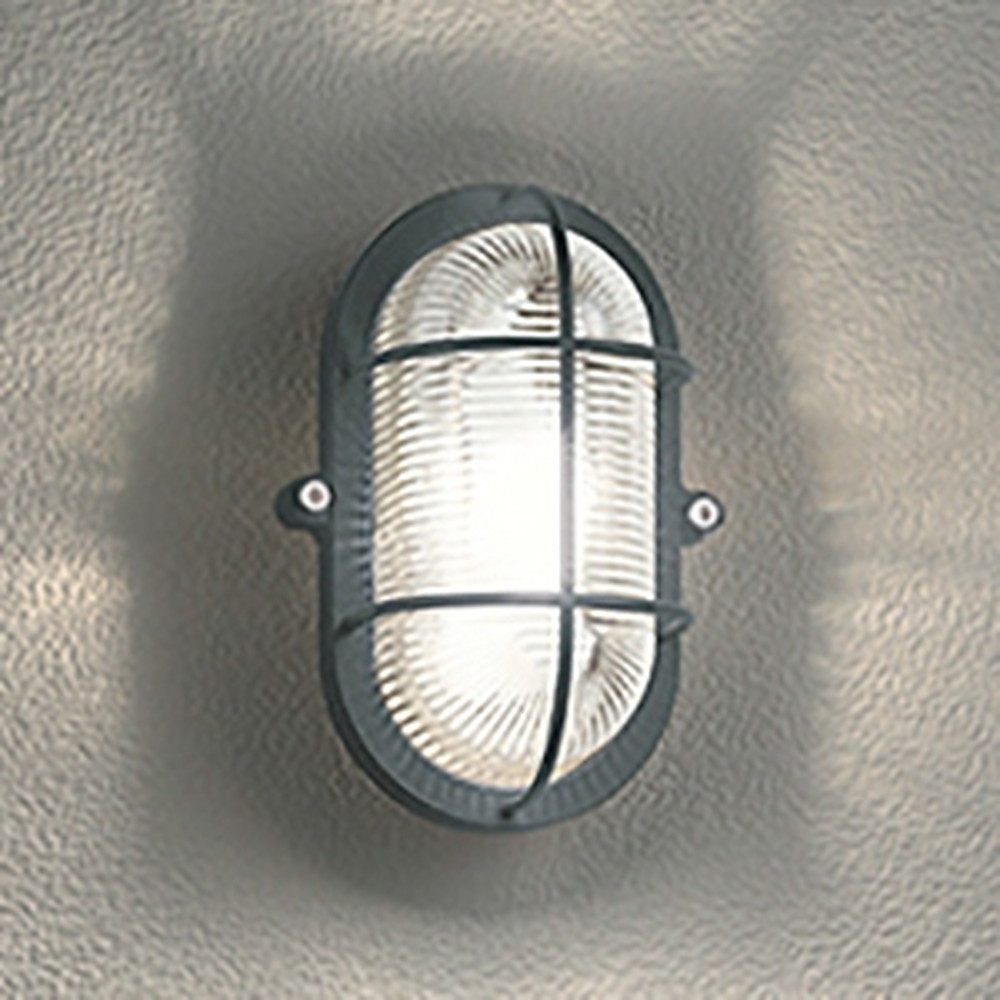 オーデリック LEDブラケットライト 防雨・防湿型 壁面・天井面・傾斜面取付兼用 縦・横向き取付可能 白熱灯40W相当 電球色 チャコールグレー OG254605LD