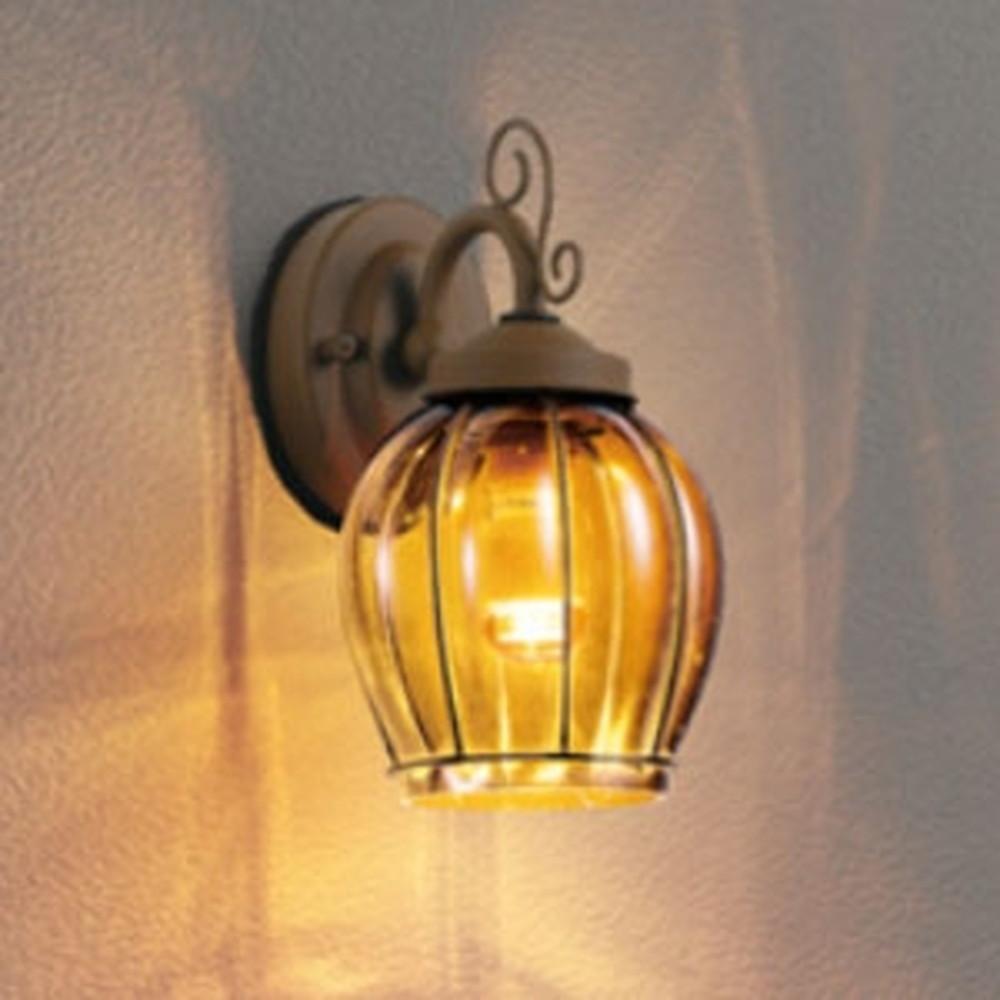 オーデリック LEDブラケットライト 防雨型 コンパクトタイプ 白熱灯40W相当 電球色 セピア色・模様入 OG254627LD