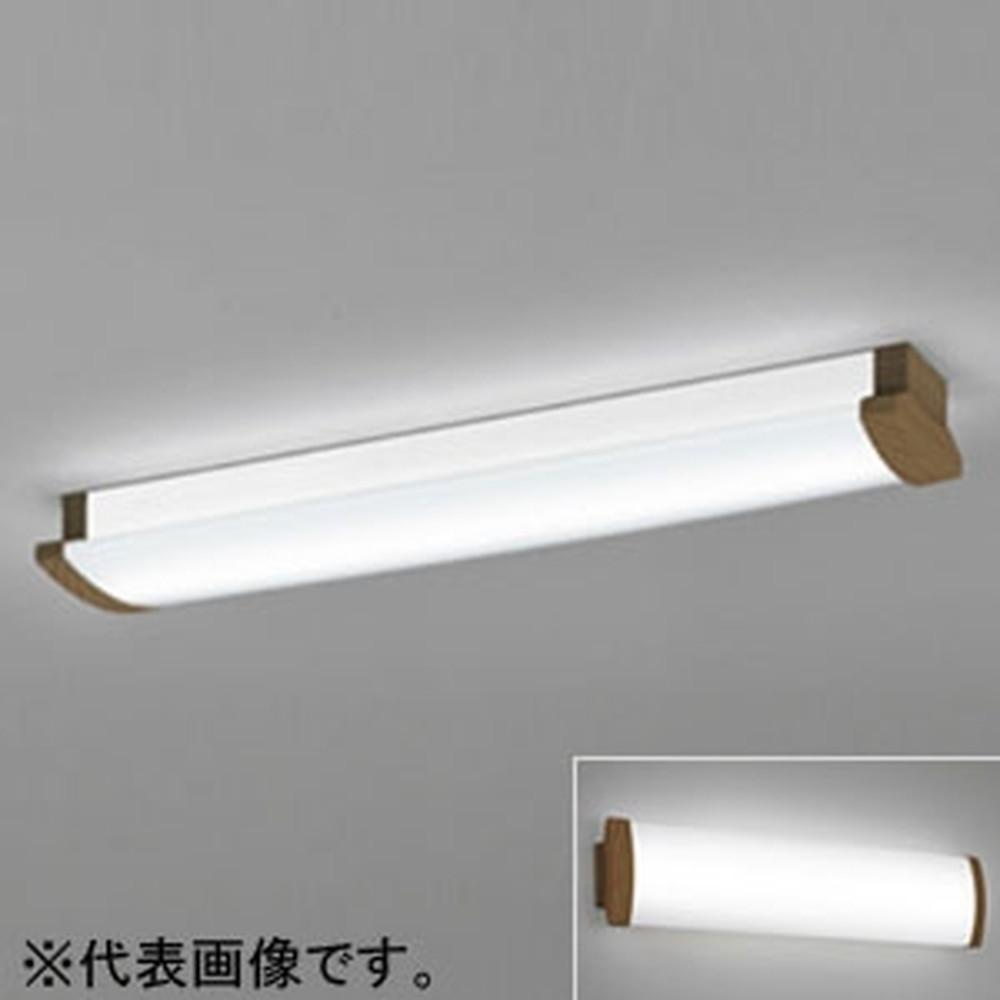 オーデリック LED一体型ブラケットライト 《SOLID LINE》 幅広タイプ 壁面・天井面・傾斜面取付兼用 Hf16W高出力×2灯相当 電球色 木調ウォールナット OL291032P4F