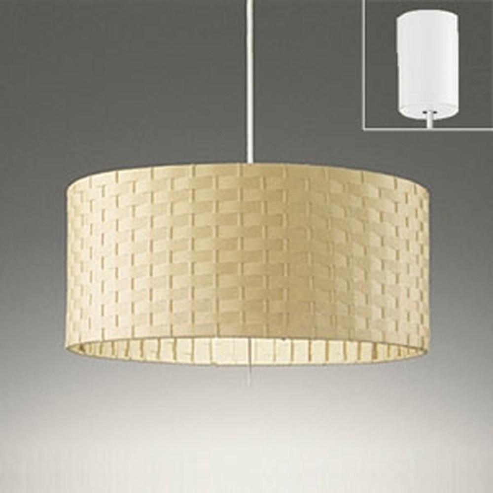 オーデリック LEDペンダントライト 白熱灯100W×2灯相当 電球色 プルスイッチ付 ベージュ OP252378LD
