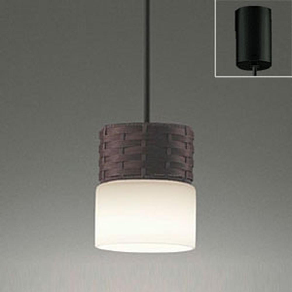 オーデリック LEDペンダントライト 引掛シーリングタイプ 白熱灯60W相当 電球色・昼白色 光色切替調光タイプ こげ茶 OP252382PC