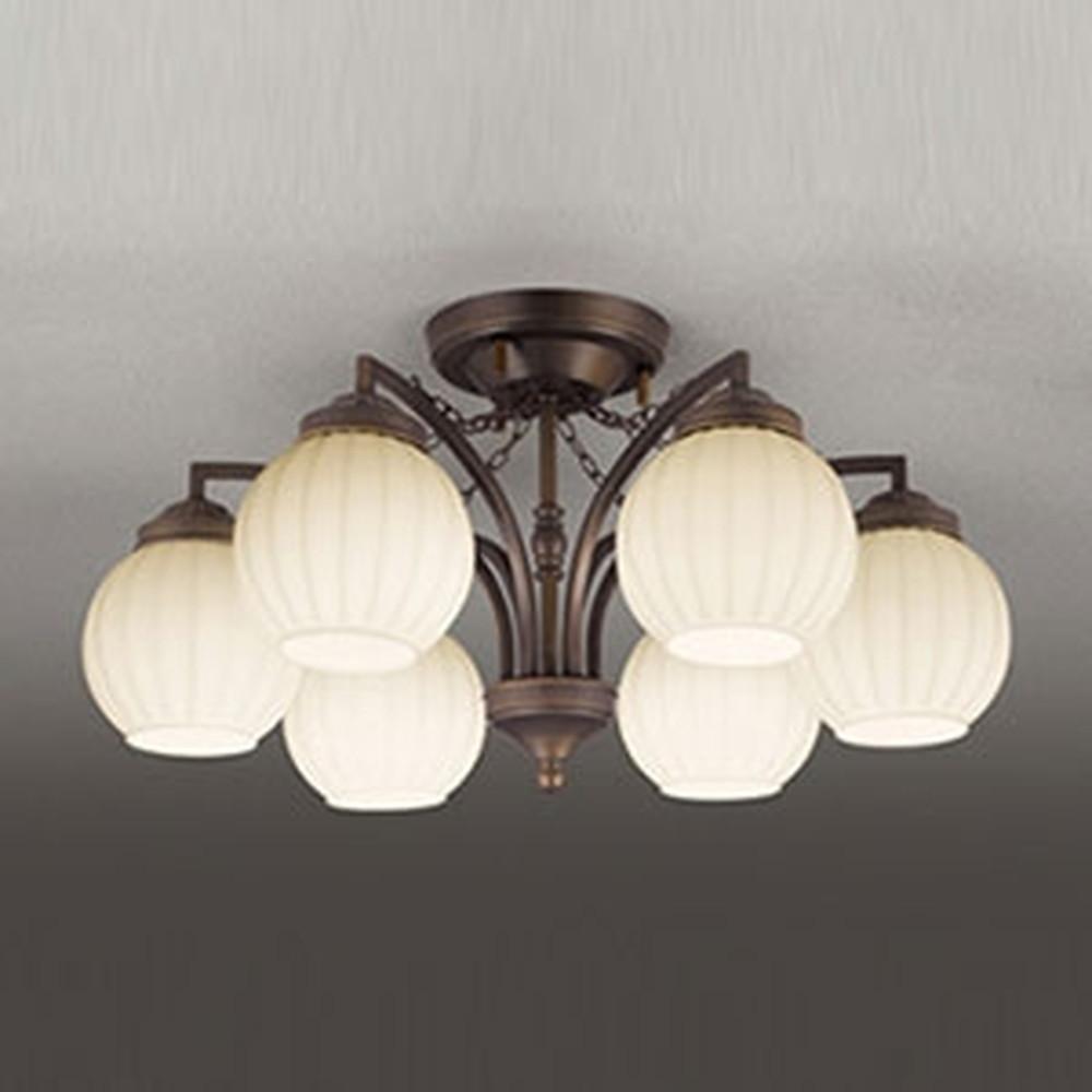 オーデリック LEDシャンデリア ~6畳用 5.7W×6灯タイプ 電球色⇔昼白色 光色切替調光タイプ OC257078PC