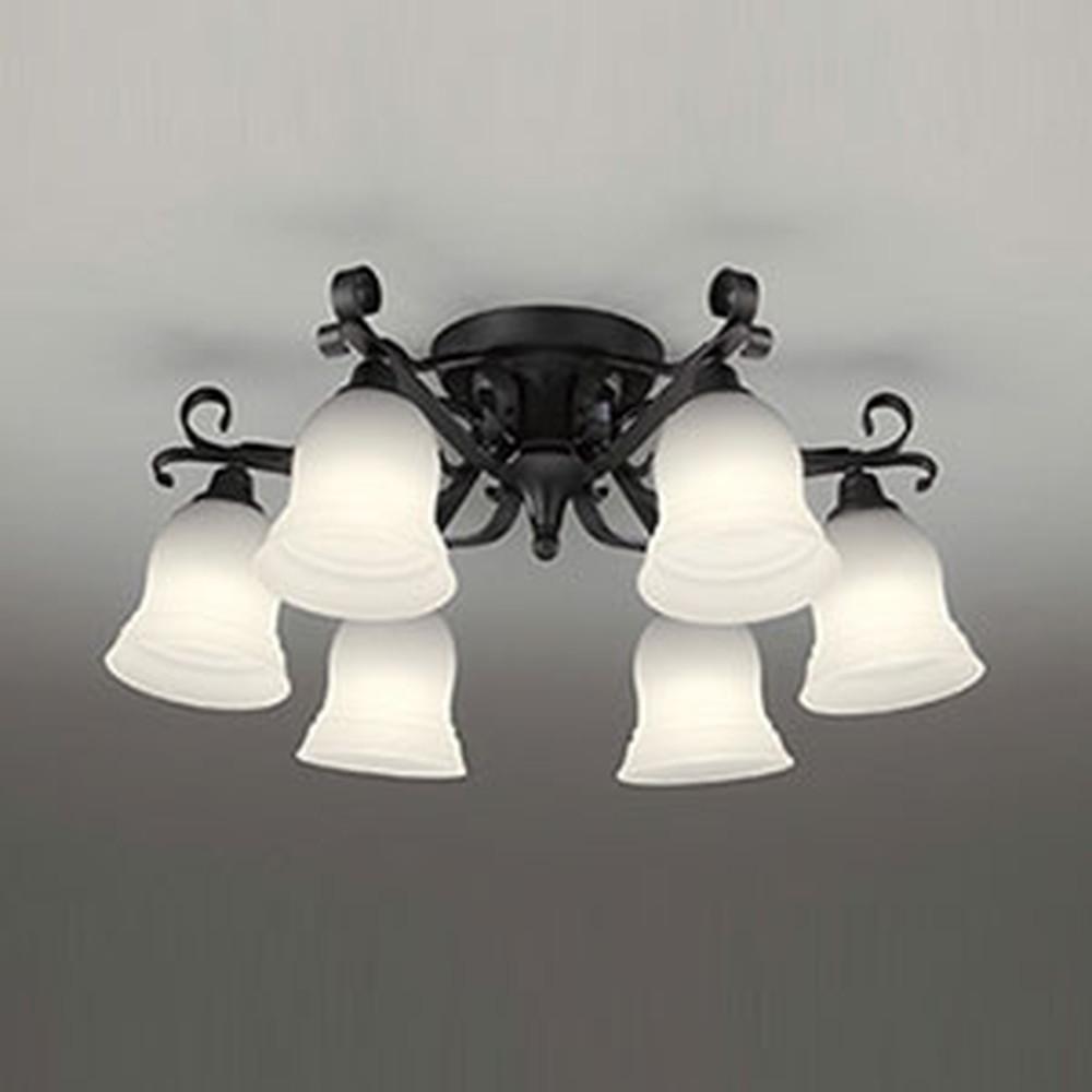 オーデリック LEDシャンデリア ~6畳用 5.7W×6灯タイプ 電球色⇔昼白色 光色切替調光タイプ OC257082PC