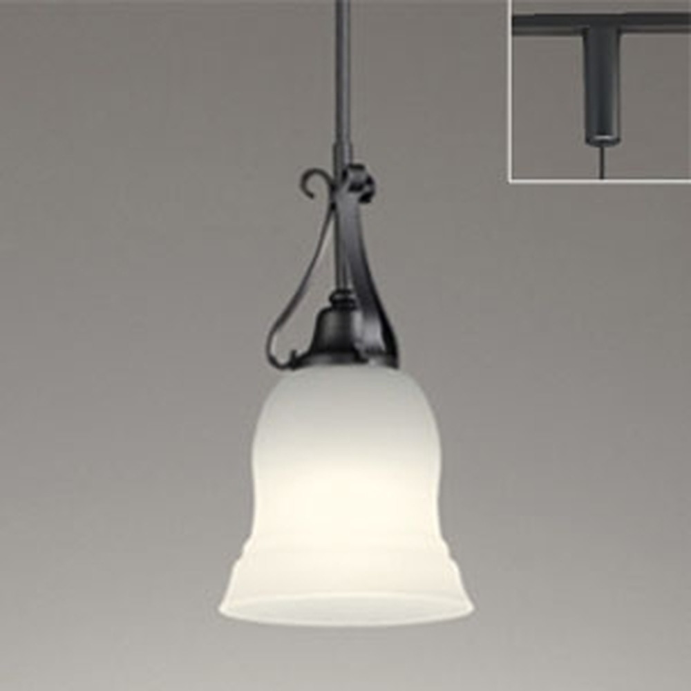 オーデリック LEDペンダントライト ライティングレール取付専用 白熱灯60W相当 電球色 調光タイプ OP252448LC