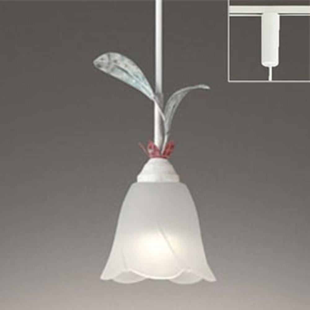 オーデリック LEDペンダントライト ライティングレール取付専用 白熱灯60W相当 電球色~昼光色 調光・調色タイプ Bluetooth®対応 赤紫色・灰緑色飾付 OP252445BC