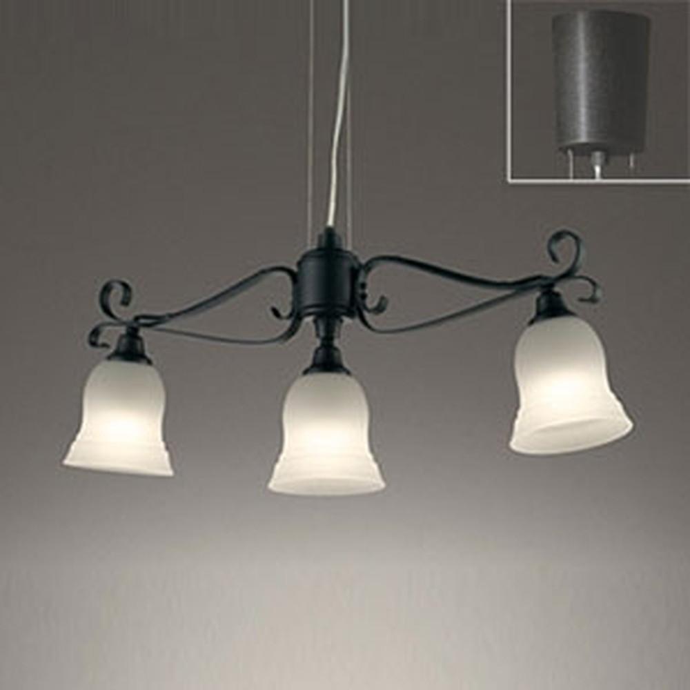 オーデリック LEDシャンデリア 白熱灯60W×3灯相当 電球色 調光タイプ ワイヤー収納フレンジ付 OC257085LC