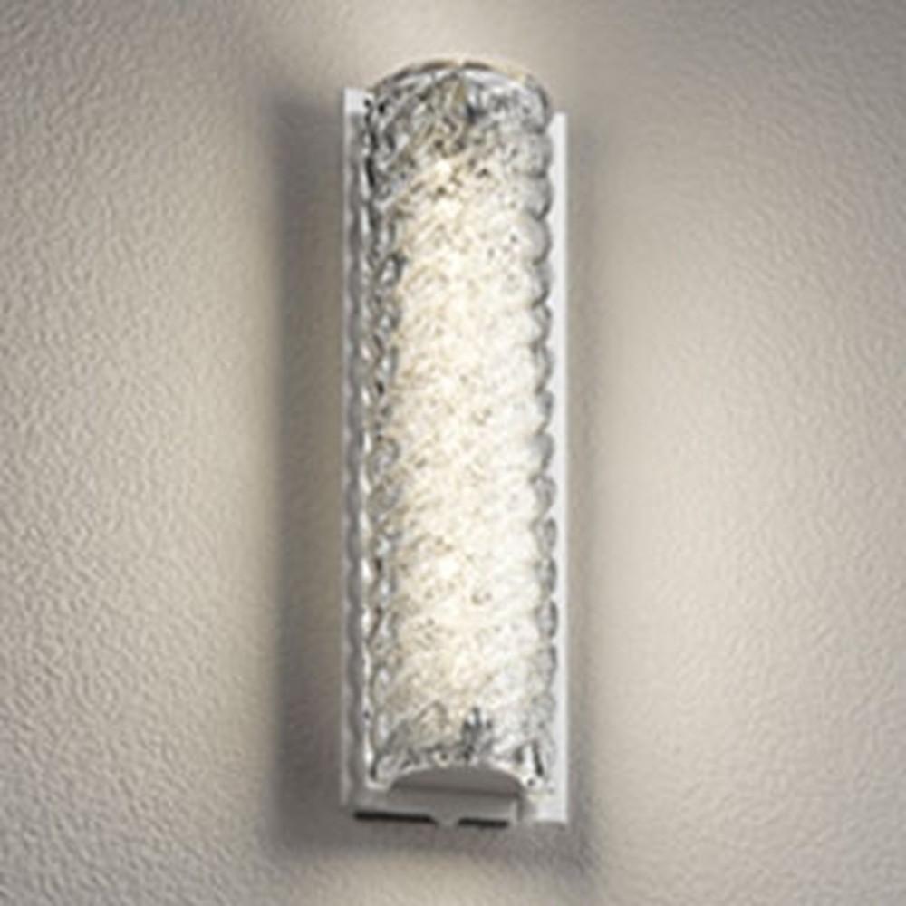 オーデリック LED一体型ポーチライト 防雨型 白熱灯60W相当 電球色 人感センサー付 ヘアライン仕上 OG254671