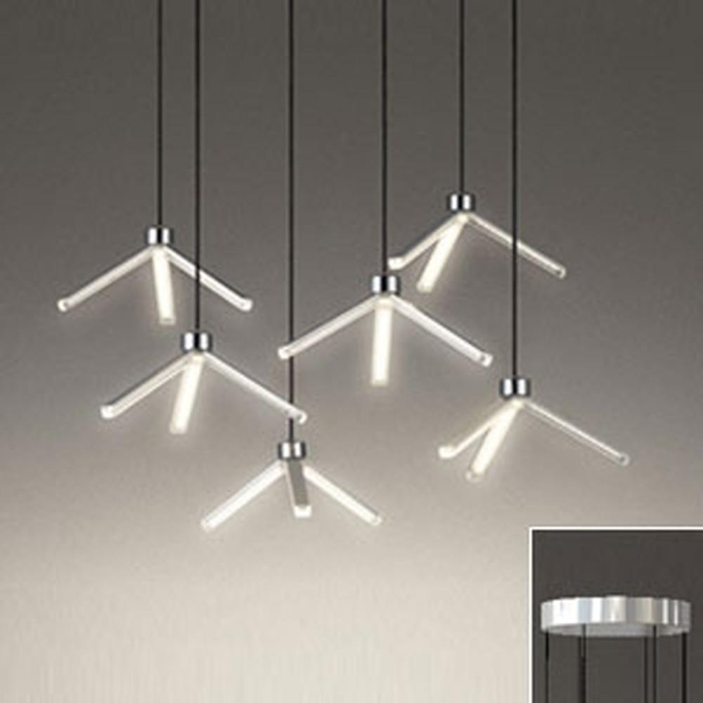 オーデリック LED一体型シャンデリア ~8畳用 電球色 OC257109