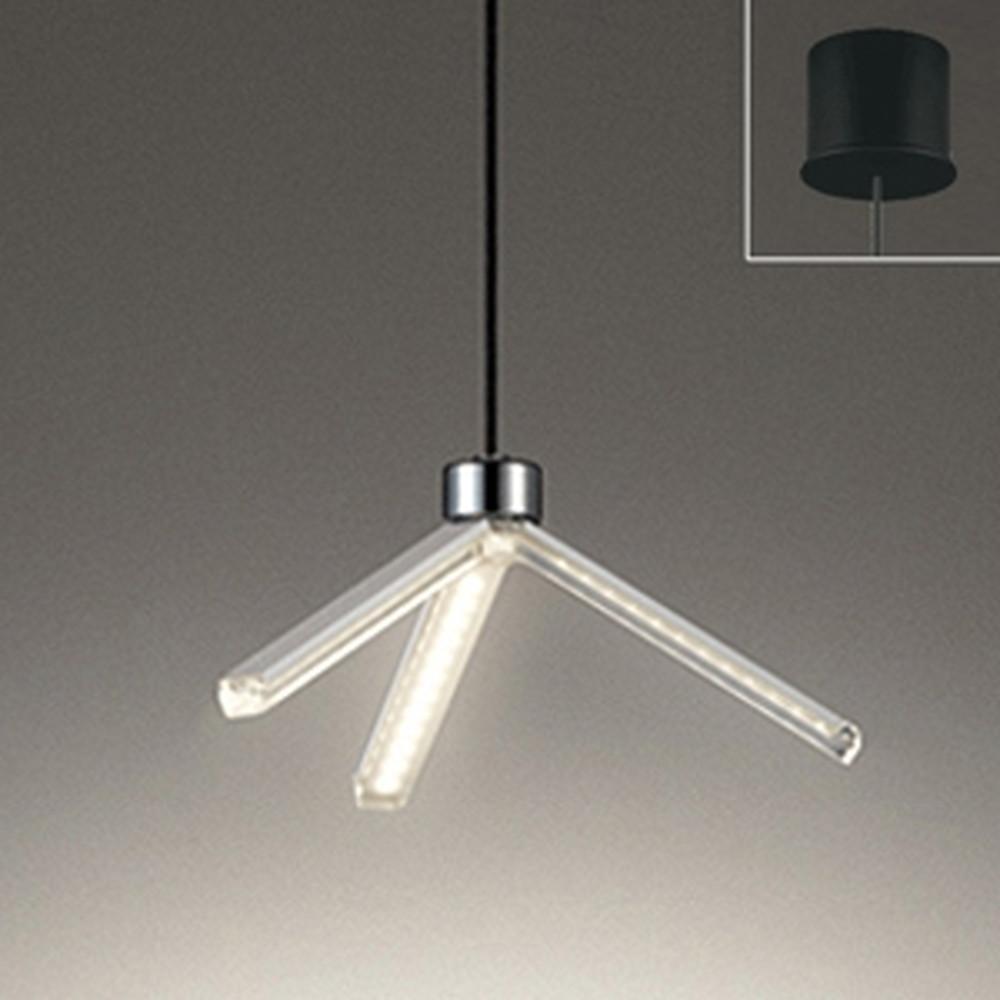 オーデリック LED一体型ペンダントライト 直付専用 白熱灯60W相当 電球色 OP252527