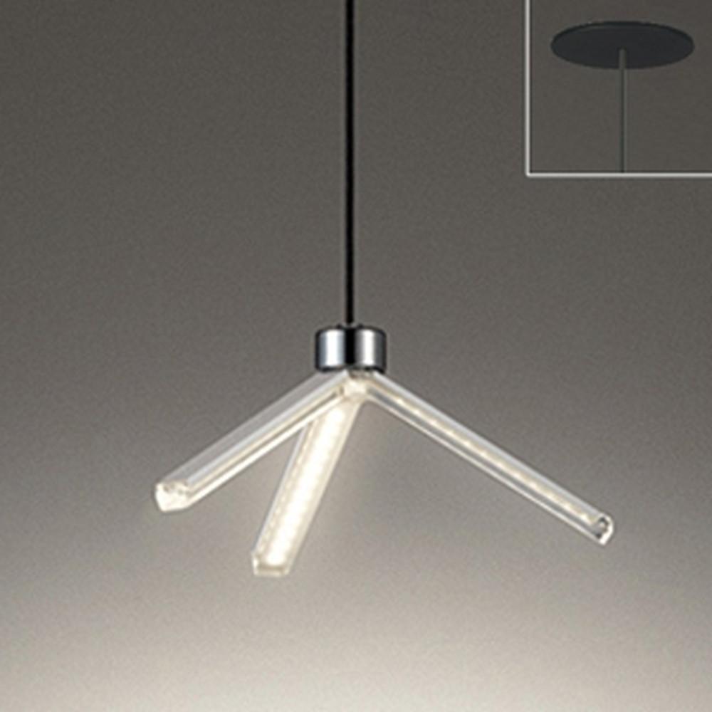 オーデリック LED一体型ペンダントライト 埋込タイプ 埋込穴φ100 白熱灯60W相当 電球色 OP252538