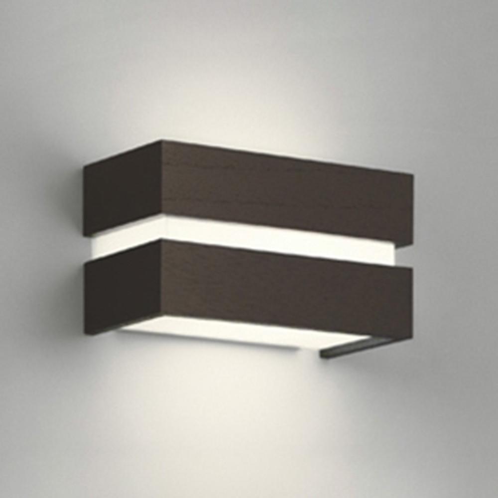 オーデリック LEDブラケットライト 密閉型 白熱灯60W相当 電球色⇔昼白色 光色切替調光タイプ エボニーブラウン OB080969PC