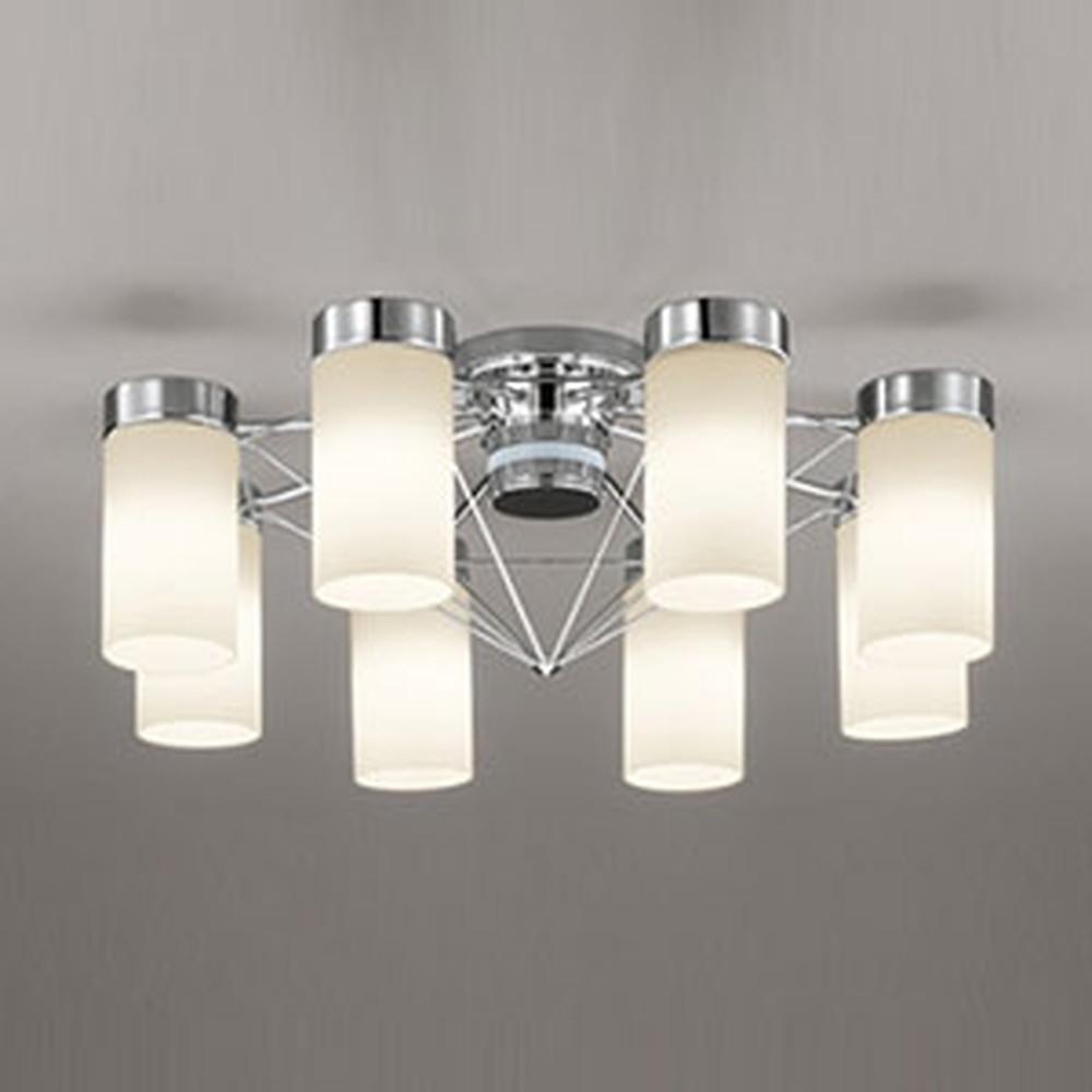 オーデリック LEDシャンデリア ~10畳用 8.6W×8灯タイプ 電球色⇔昼白色 光色切替調光タイプ リモコン付 OC257086PC