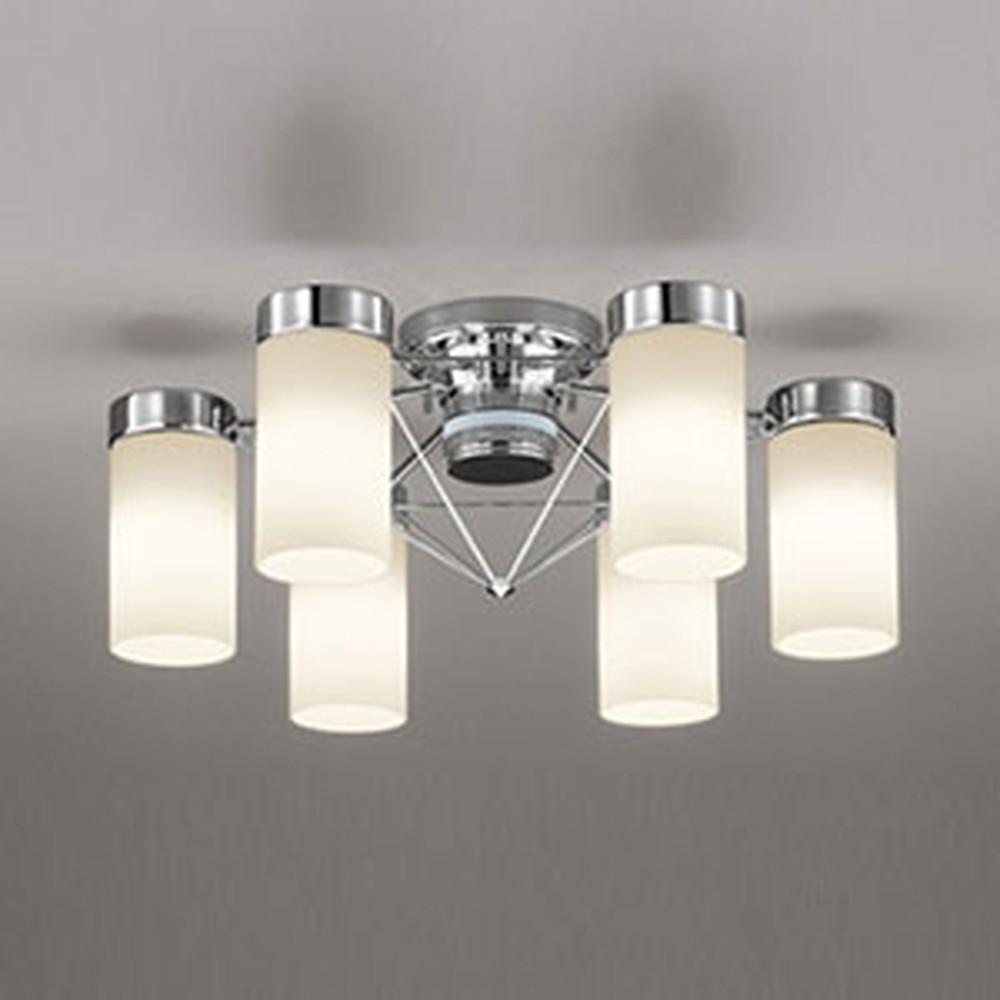 オーデリック LEDシャンデリア ~6畳用 9.8W×6灯タイプ 電球色 調光タイプ リモコン付 OC257088LC