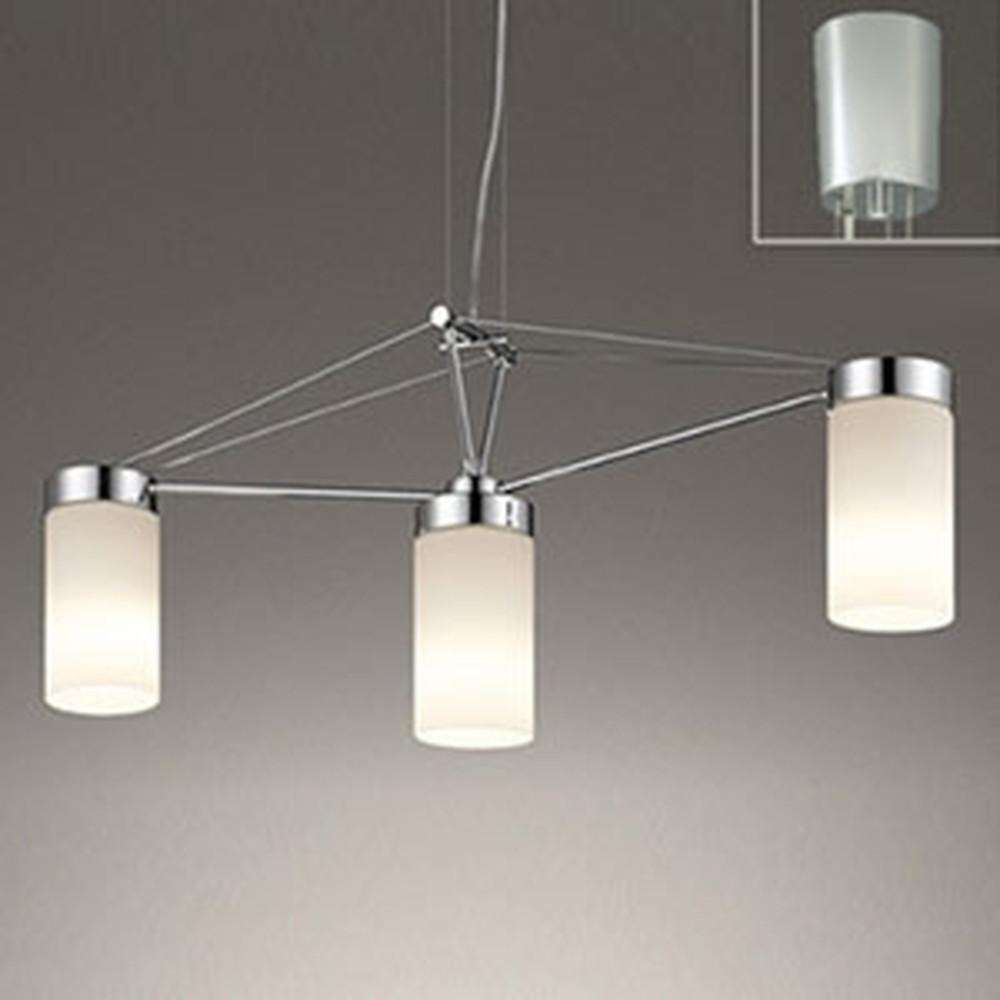 オーデリック LEDシャンデリア 白熱灯100W×3灯相当 電球色⇔昼白色 光色切替調光タイプ ワイヤー収納フレンジ付 OC257091PC