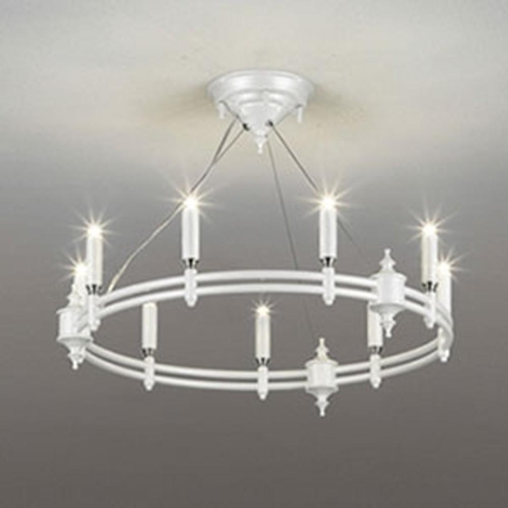 オーデリック LEDシャンデリア ~6畳用 3W×9灯タイプ 電球色 クロームメッキ飾付 OC257095LD
