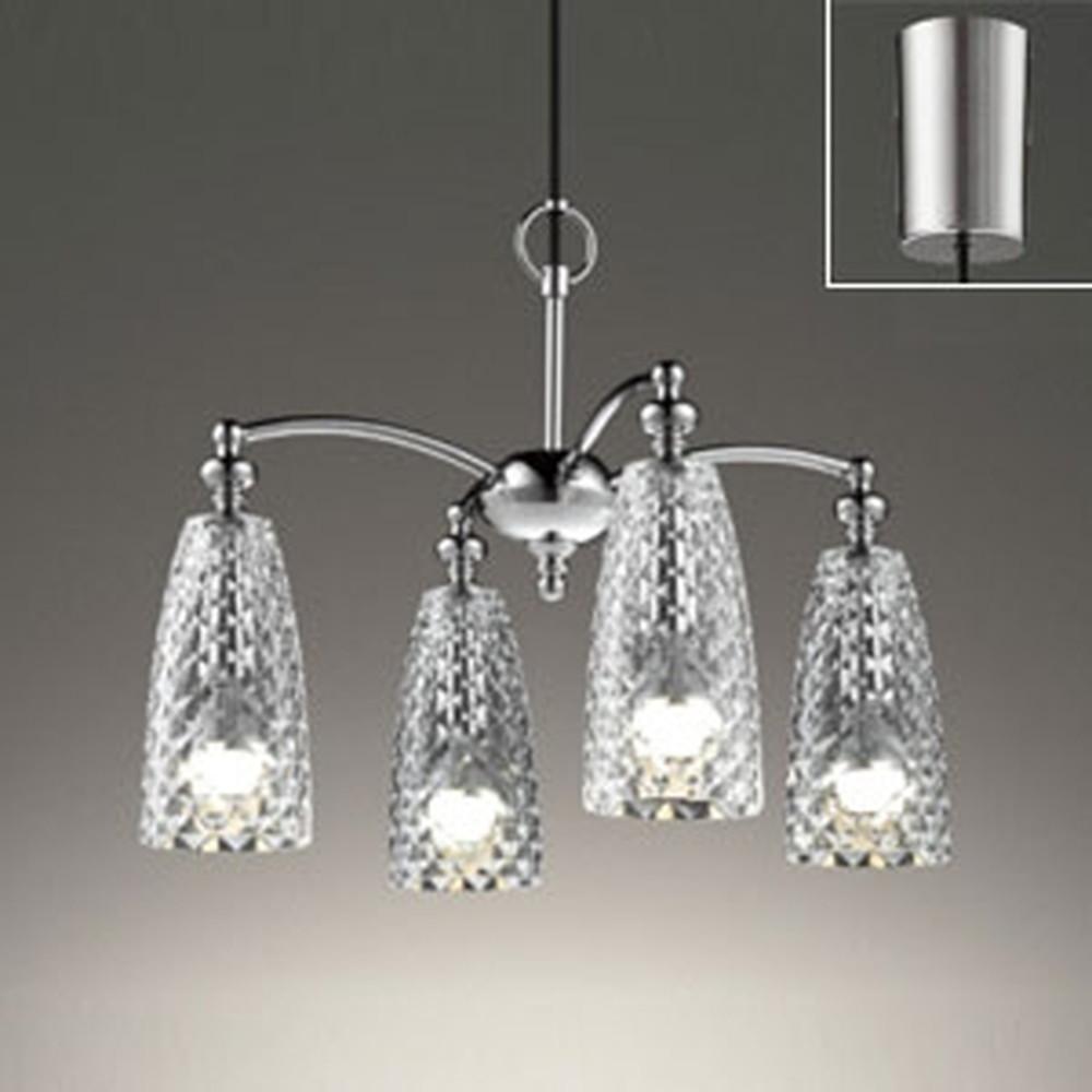 オーデリック LEDシャンデリア 白熱灯60W×4灯相当 電球色 調光タイプ コード収納フレンジ付 OC257101LC