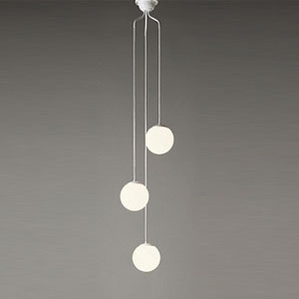 オーデリック LEDシャンデリア 白熱灯50W×3灯相当 電球色 電動昇降装置対応 コード調節器付 OC257107LD