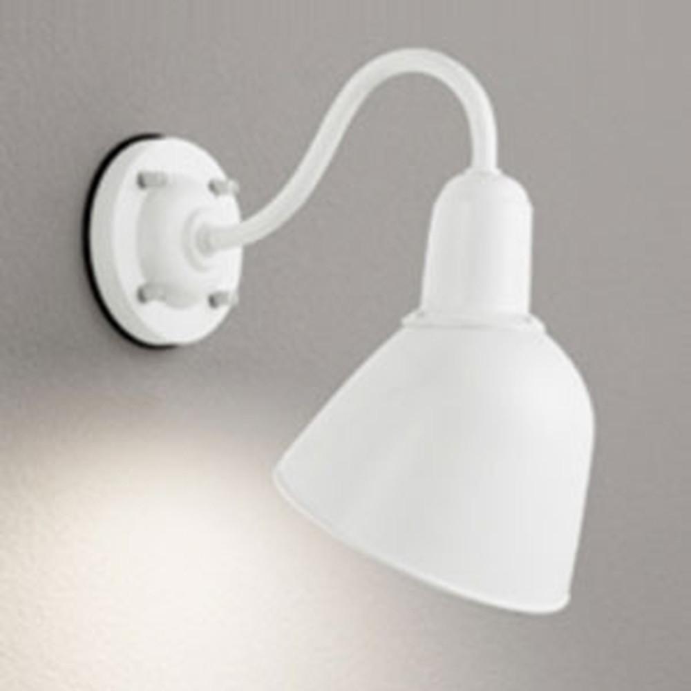 オーデリック LEDポーチライト 防雨型 白熱灯60W相当 電球色 別売センサ対応 オフホワイト OG254675LD
