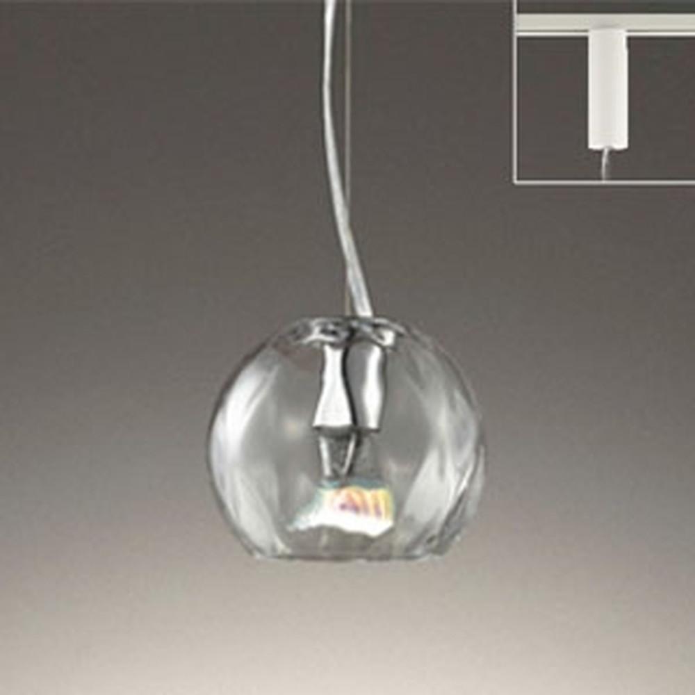 オーデリック LEDペンダントライト ライティングレール取付専用 JDR40W相当 電球色 調光タイプ 透明 OP252439LC1