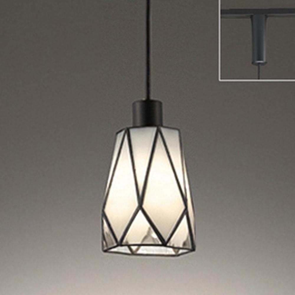 オーデリック LEDペンダントライト ライティングレール取付専用 白熱灯30W相当 電球色 透明 OP252450LD