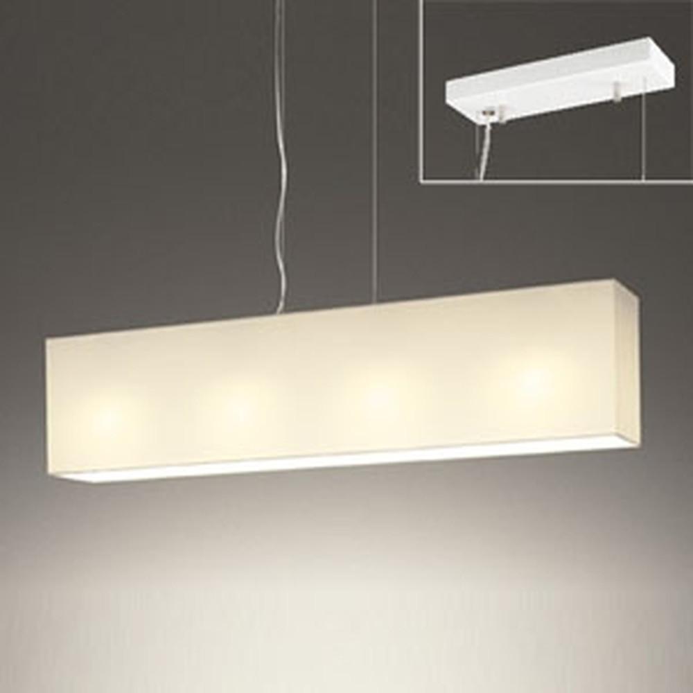オーデリック LEDペンダントライト 直付専用 ~8畳用 電球色・昼白色 光色切替調光タイプ オフホワイト OP252483PC