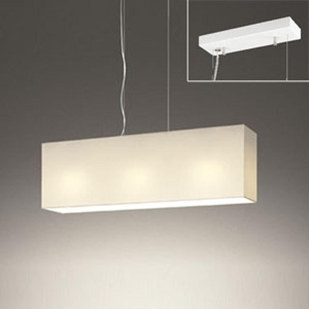 オーデリック LEDペンダントライト 直付専用 ~6畳用 電球色・昼白色 光色切替調光タイプ オフホワイト OP252484PC