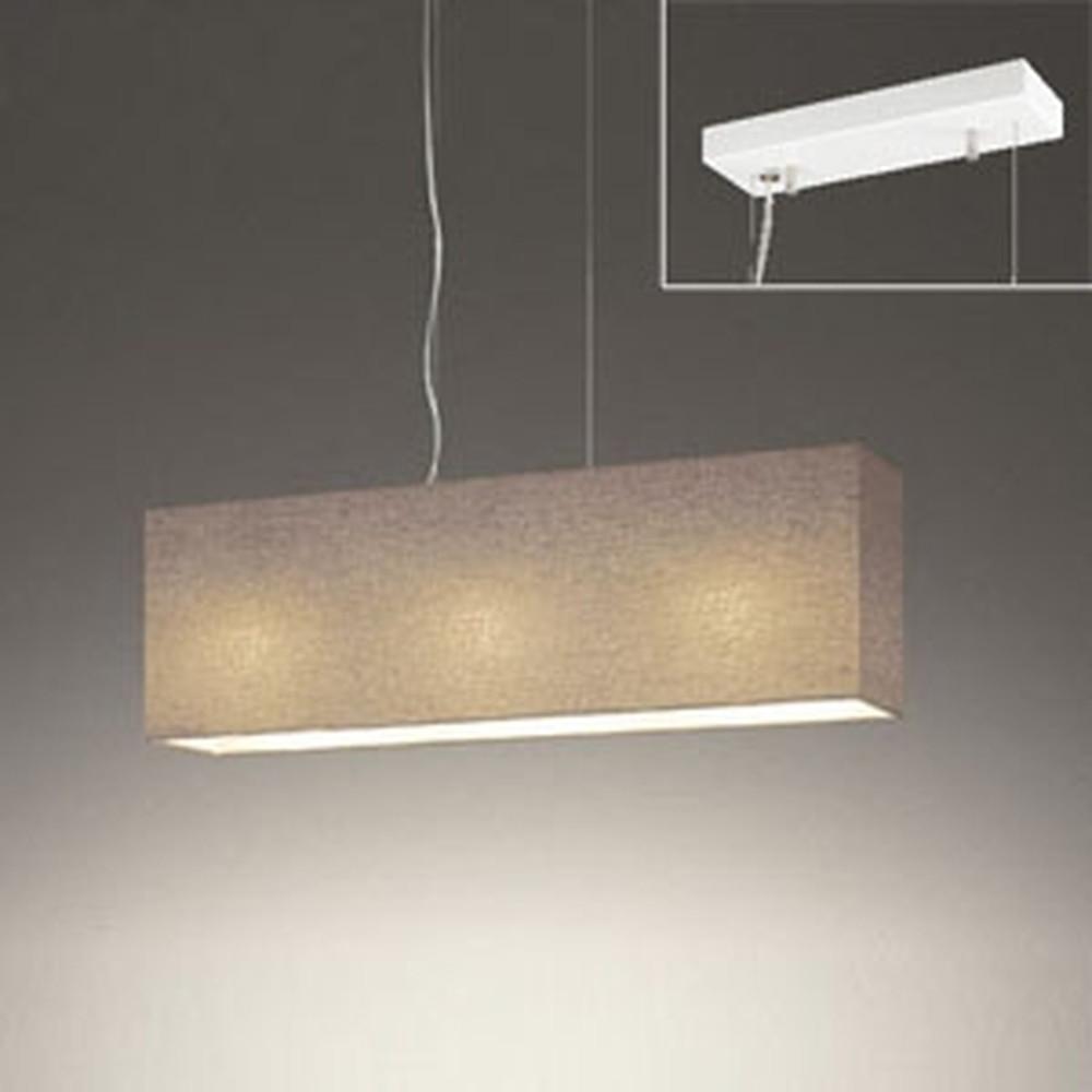 オーデリック LEDペンダントライト 直付専用 ~4.5畳用 電球色 調光タイプ チャコールブラウン OP252487LC