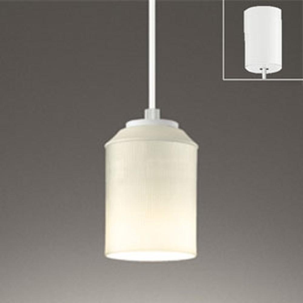 オーデリック LEDペンダントライト 引掛シーリングタイプ 白熱灯60W相当 電球色 縞市松文様 OP252491LD