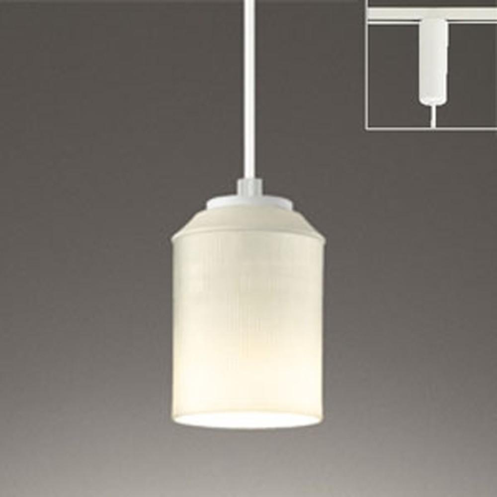 オーデリック LEDペンダントライト ライティングレール取付専用 白熱灯60W相当 電球色 縞市松文様 OP252492LD
