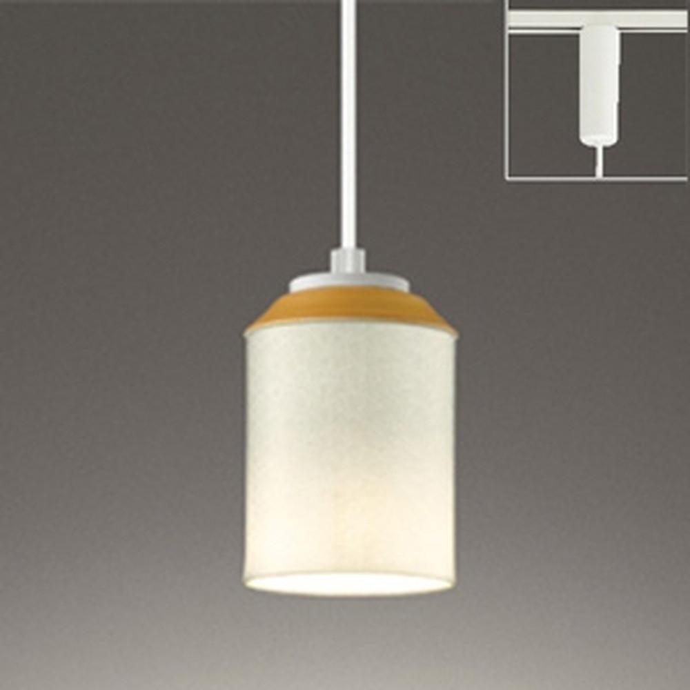 オーデリック LEDペンダントライト ライティングレール取付専用 白熱灯60W相当 電球色 麻ノ葉文様 OP252494LD