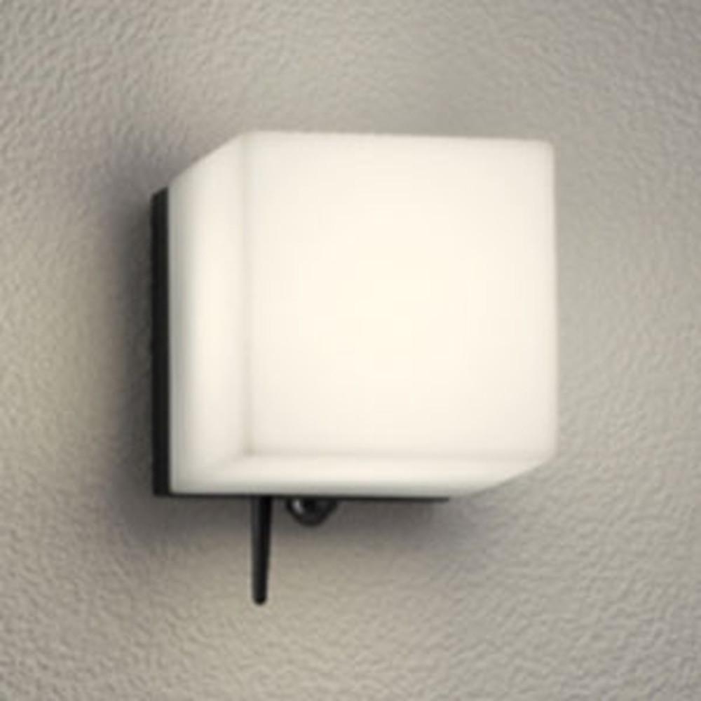 オーデリック LED一体型ポーチライト 防雨型 白熱灯60W相当 電球色 人感センサー・Bluetooth®通信アンテナ付 黒 OG254826BC