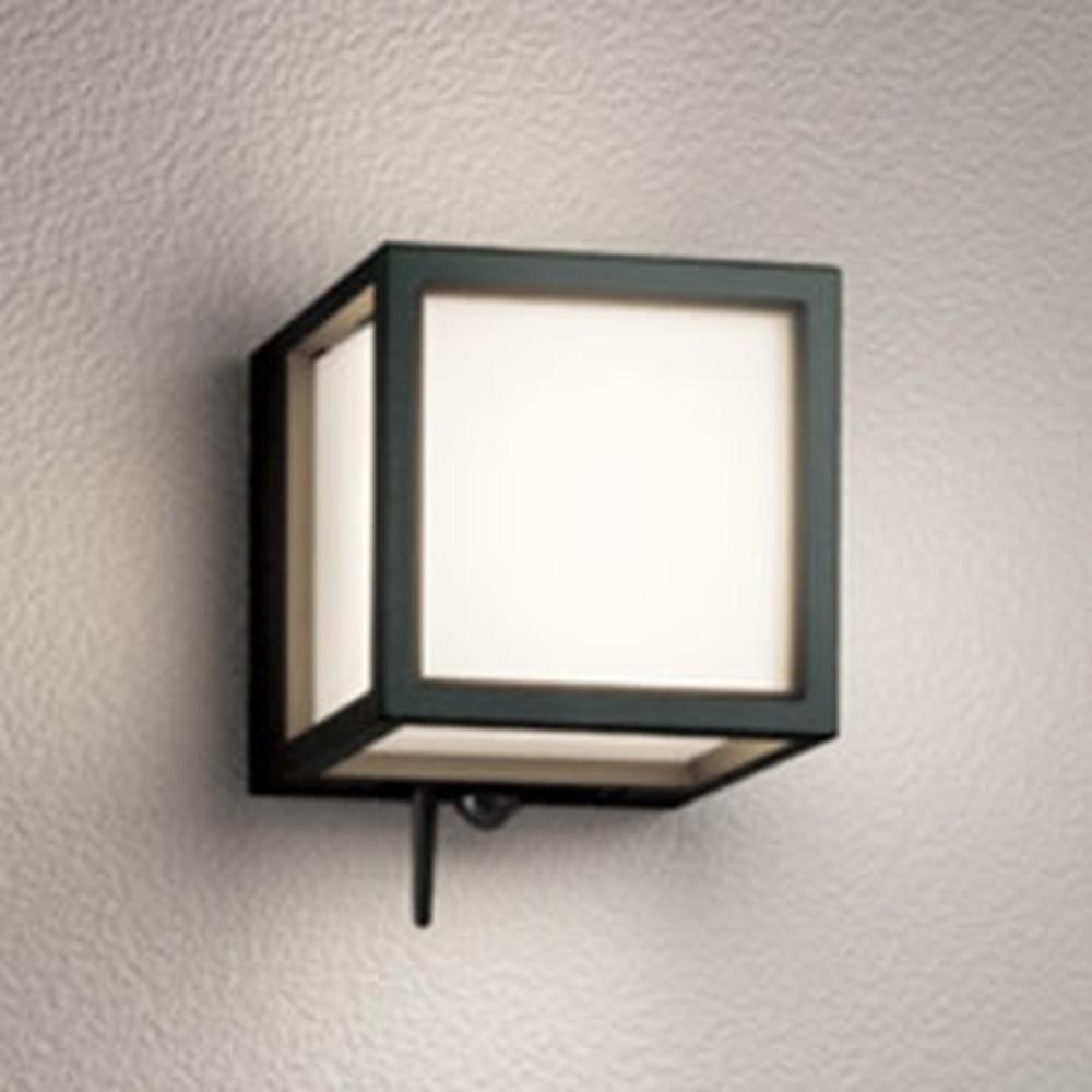 オーデリック LED一体型ポーチライト 防雨型 白熱灯60W相当 電球色 人感センサー・Bluetooth®通信アンテナ付 黒 OG254832BC