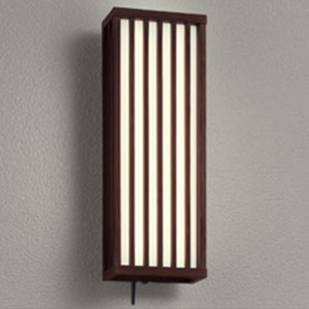 オーデリック LED一体型ポーチライト 防雨型 白熱灯60W相当 電球色 人感センサー・Bluetoothreg;通信アンテナ付 民芸塗 OG254837BC