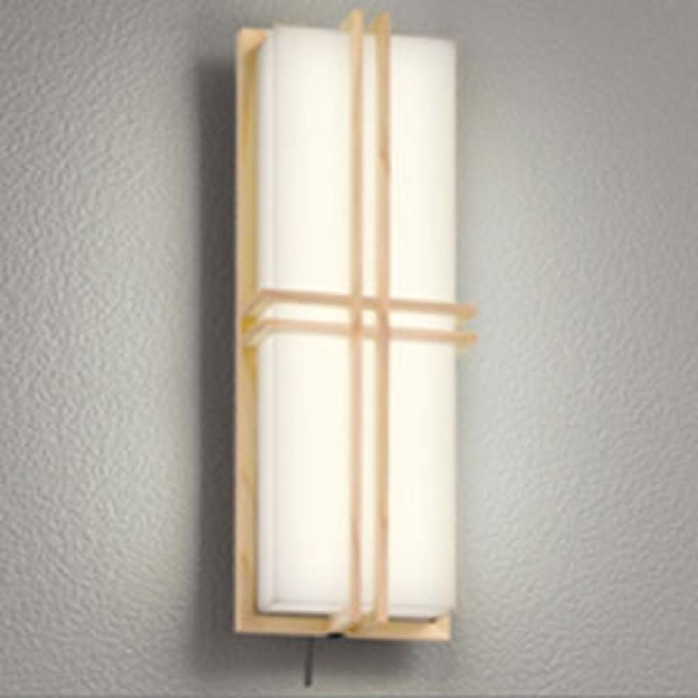 オーデリック LED一体型ポーチライト 防雨型 白熱灯60W相当 電球色 人感センサー・Bluetooth®通信アンテナ付 白木調 OG254838BC