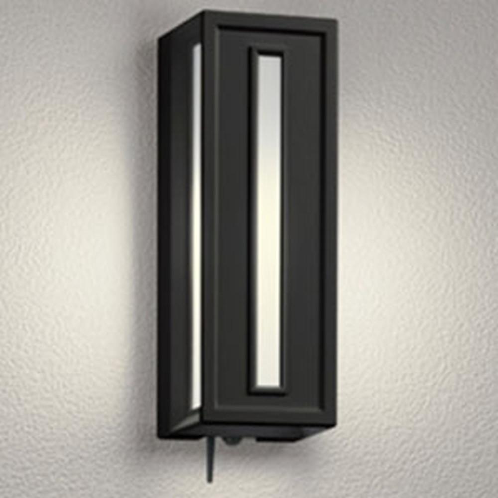 オーデリック LEDポーチライト 防雨型 白熱灯40W相当 電球色 人感センサー・Bluetooth®通信アンテナ付 黒 OG254840BC