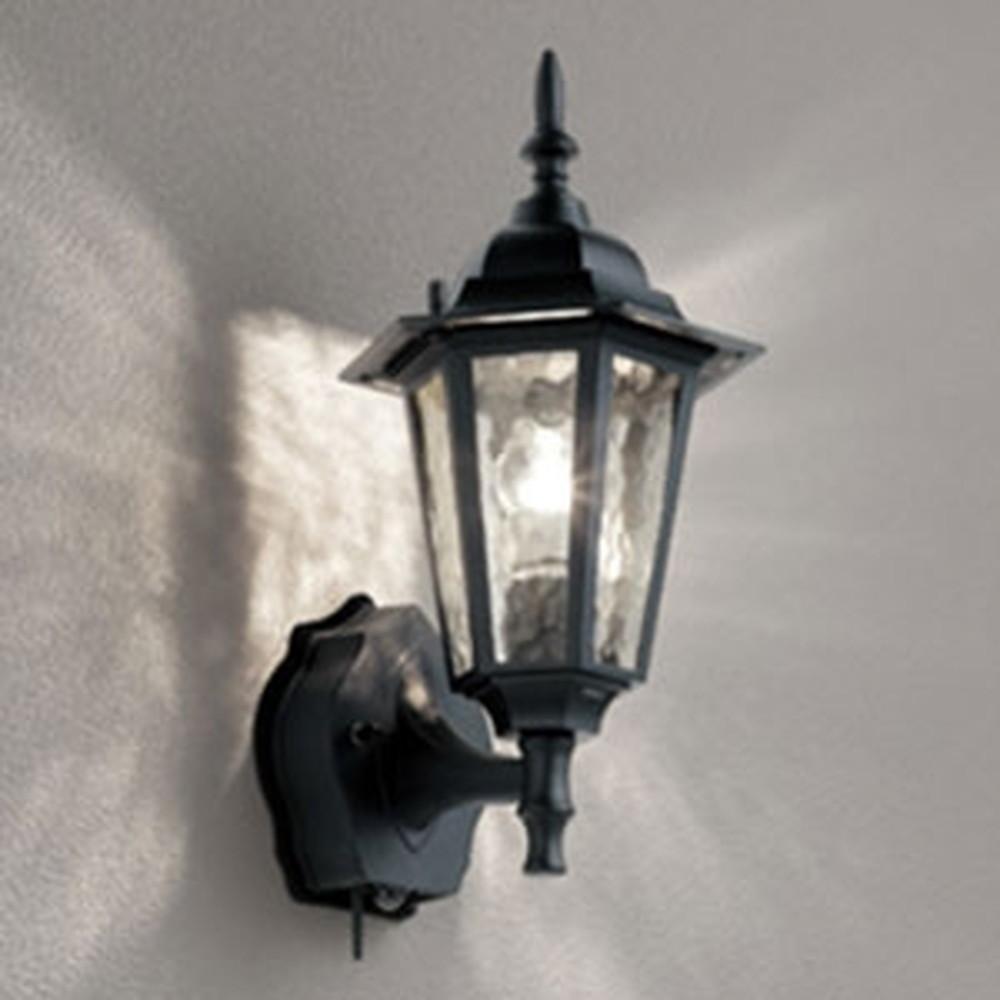 オーデリック LEDポーチライト 防雨型 白熱灯40W相当 電球色 人感センサー・Bluetooth®通信アンテナ付 黒 OG254841BC
