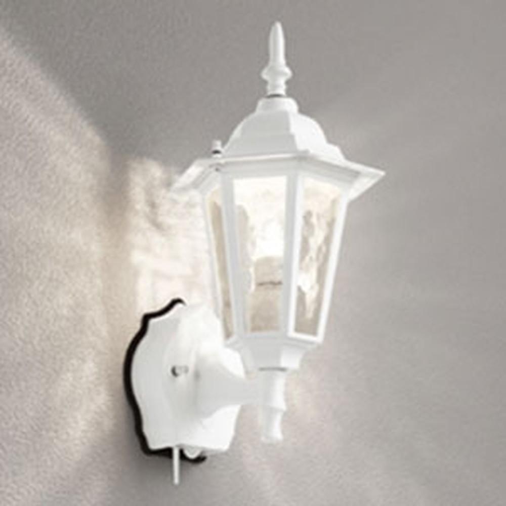 オーデリック LEDポーチライト 防雨型 白熱灯40W相当 電球色 人感センサー・Bluetooth®通信アンテナ付 白 OG254843BC