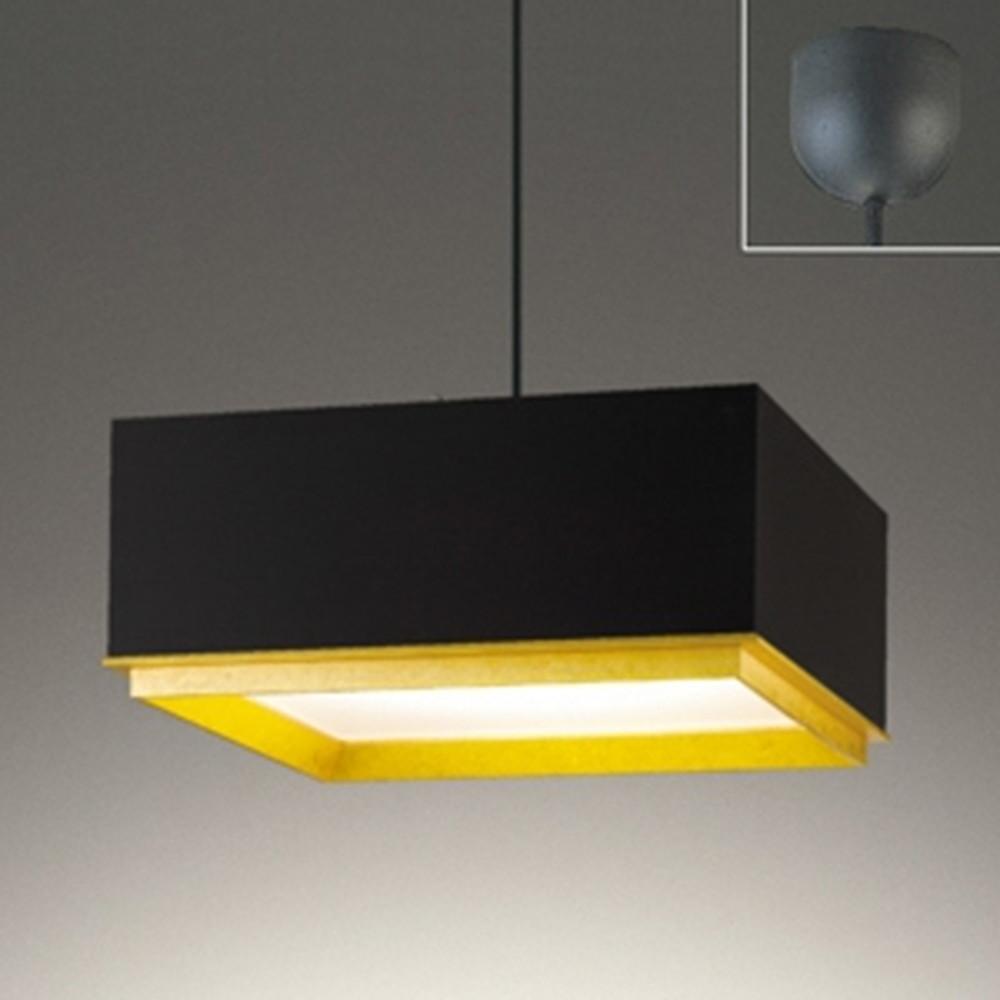 オーデリック LED一体型ペンダントライト 《made in NIPPON》 ~8畳用 電球色 コード収納機能付 黒 OP252586