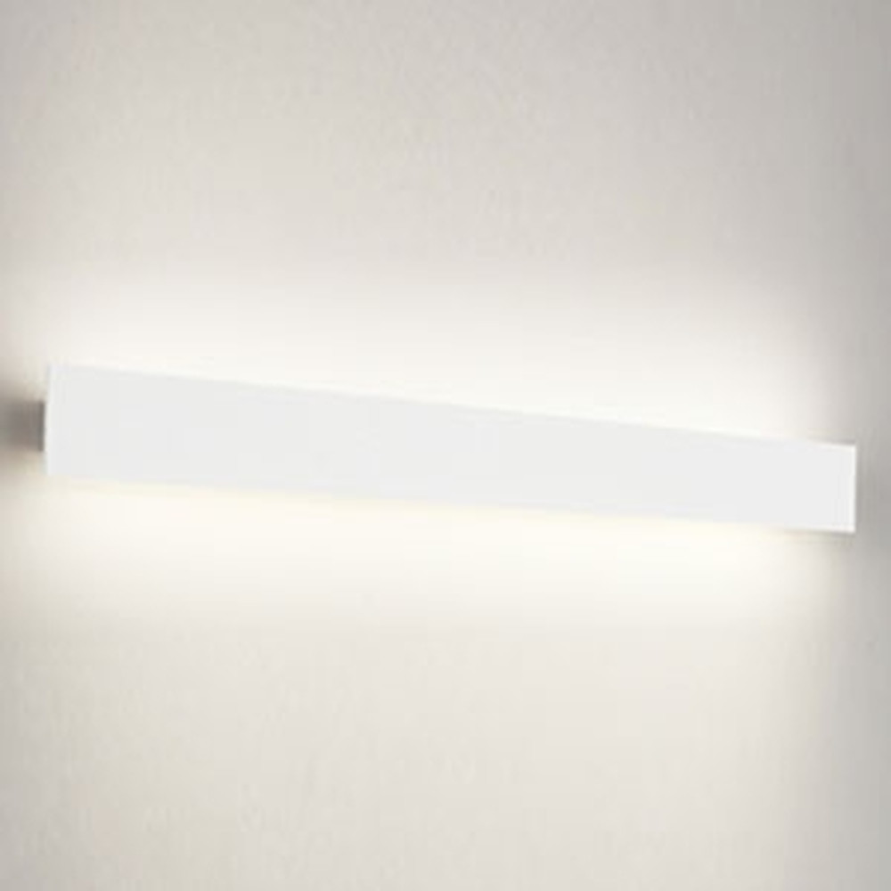 オーデリック LED一体型ブラケットライト 壁面取付専用 フラットパネル FL40W相当 電球色 オフホワイト OB255218