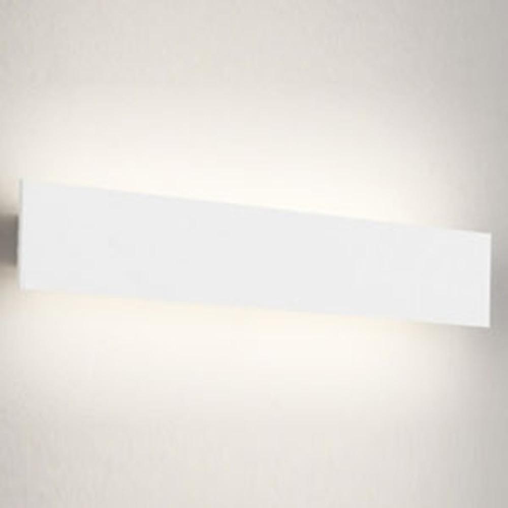 オーデリック LED一体型ブラケットライト 壁面取付専用 フラットパネル FL20W相当 電球色 オフホワイト OB255219
