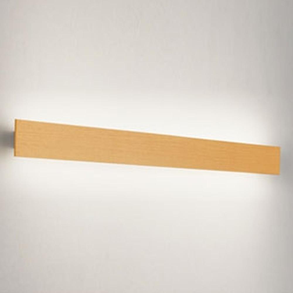 オーデリック LED一体型ブラケットライト 壁面取付専用 フラットパネル FL40W相当 電球色 木調ナチュラル OB255224