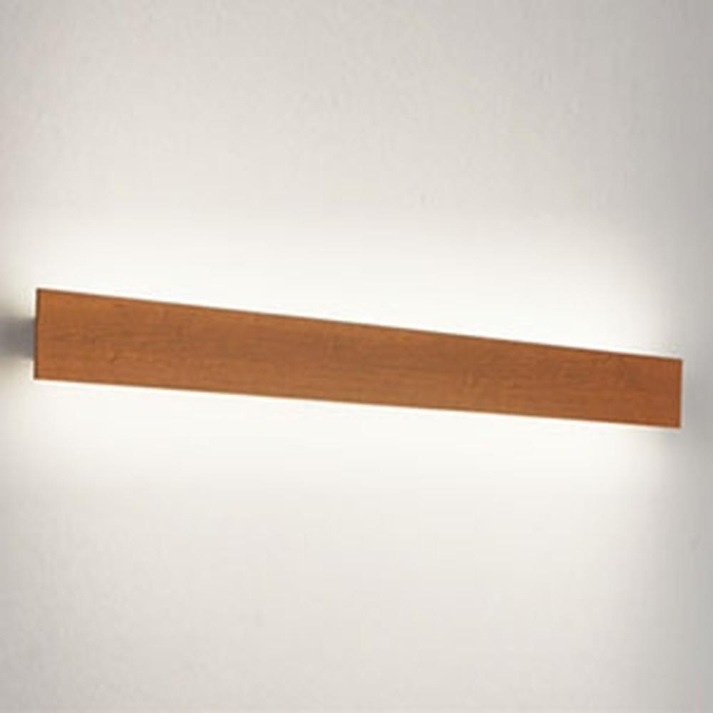 オーデリック LED一体型ブラケットライト 壁面取付専用 フラットパネル FL40W相当 電球色 木調チェリー OB255222